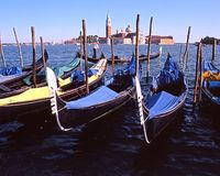 Gondolas, Venice. Stock Photos