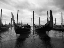Gondolas in Venice. Gondolas near the famous San Marco place Royalty Free Stock Photo