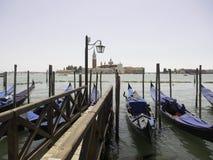 Gondolas in Venice Stock Images