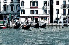 Gondolas in Venice Royalty Free Stock Photos