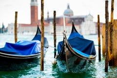 Gondolas in Venice Royalty Free Stock Photo