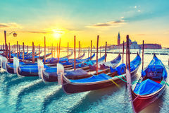 Gondolas in Venice Stock Photos