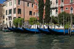 Gondolas of Venice. From a Trip around Venice, Italy Royalty Free Stock Image