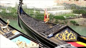 Gondolas in Venice stock video footage