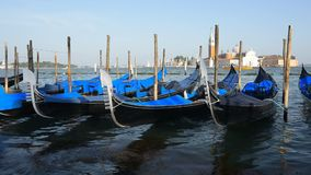 Gondolas in Venice stock video
