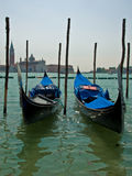 Gondolas in Venice on the Venetian Lagoon Stock Photo