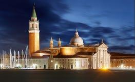 Gondolas with view of San Giorgio Maggiore, Venice, Italy Royalty Free Stock Photo