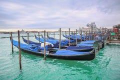 Gondolas with view of Santa Maria della Salute Royalty Free Stock Image
