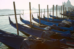 Gondolas waiting for people Royalty Free Stock Photography