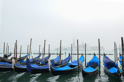 Gondolas are waiting for tourists Royalty Free Stock Image