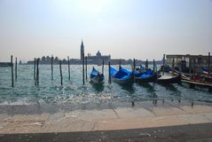 Gondolas in water Royalty Free Stock Photo