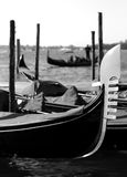 Gondolas on the water in venice italy Stock Photography