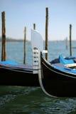 Gondolas on the water in venice italy Stock Image