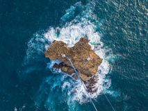 Gondole à l'île de Timang images stock