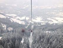 Gondole de Kitzbuhel image libre de droits