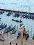 Gondole del San Marco. Venezia, Italia fotografia stock