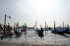 Gondole di Venezia Immagini Stock Libere da Diritti