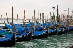 Gondole in Laguna. Di fronte piazza San Marco royalty free stock photo