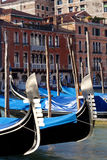 Gondole na kanał grande Zdjęcie Stock
