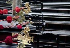 Gondole ou gondoles Photographie stock libre de droits