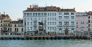 Gondole of Piazza San Marco. Seaview of the Gondole of Piazza San Marco, Venice stock photos