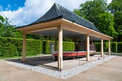 Gondole royale dans le château de Pillnitz Image stock