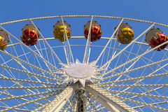 Gondole su Ferris Wheel Immagine Stock