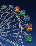 Gondole su una rotella di Ferris Fotografia Stock