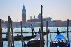 Gondole sur le canal grand, Venise Photo libre de droits