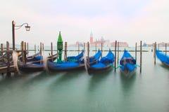 Gondole tradizionali a Venezia Fotografia Stock Libera da Diritti