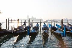 Gondole, typical Venecian boat in Venice, Italy Royalty Free Stock Photography