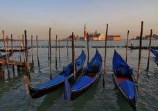 Gondole a Venezia Immagine Stock Libera da Diritti