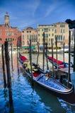 Gondole, Venezia, Italia Fotografia Stock Libera da Diritti