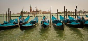 Gondole veneziane, Venezia-Italia Immagini Stock Libere da Diritti