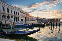 Gondole vicino a San Marco Fotografia Stock