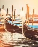 Gondole w kanale w Wenecja zdjęcia royalty free