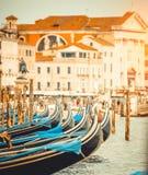 Gondole w kanale w Wenecja zdjęcie stock