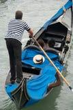 Gondoleiro Venetian Imagem de Stock