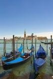 Gondoler av Venedig Royaltyfria Foton