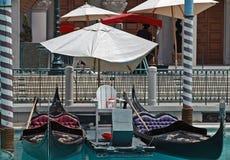 Gondoler i Las Vegas Fotografering för Bildbyråer