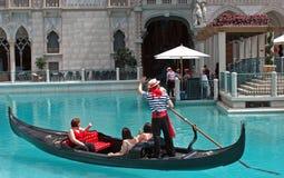 Gondoler i Las Vegas Royaltyfria Bilder