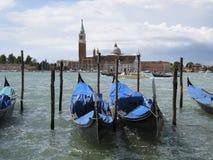 Gondoler i Venedig royaltyfri fotografi