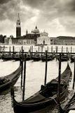 Gondoler i Venedig Fotografering för Bildbyråer