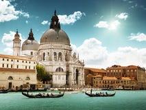 Gondoler i Venedig Royaltyfria Foton