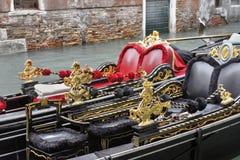 Gondoler i Venedig, Italien Arkivbilder