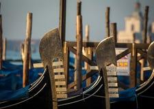 Gondoler på den san marcoen Royaltyfri Foto