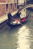 gondoler Venedig italy Fotografering för Bildbyråer