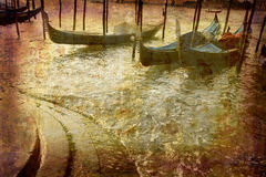 gondoler venice Royaltyfri Foto