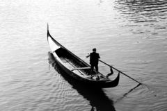 Gondolero Imagen de archivo libre de regalías