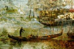 Gondolero en Venecia, Italia Imagen de archivo